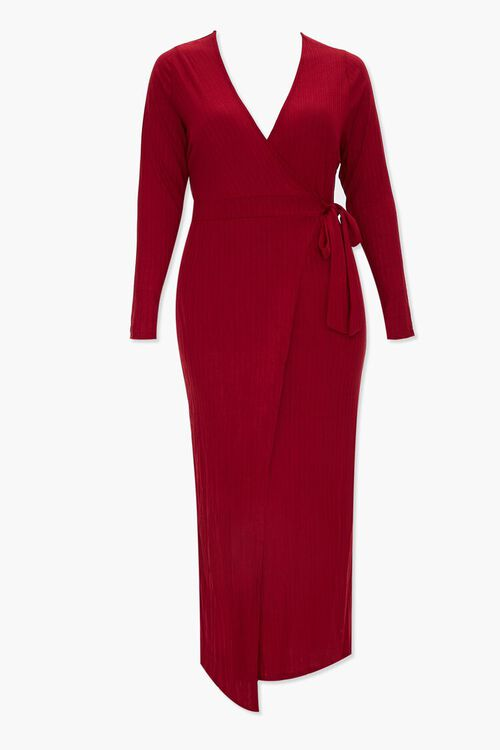 Plus Size Maxi Wrap Dress