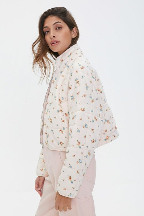 Floral Print Quilted Jacket, image 2