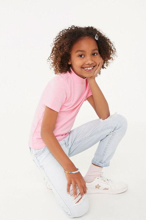 Girls Mock Neck Top (Kids), image 1