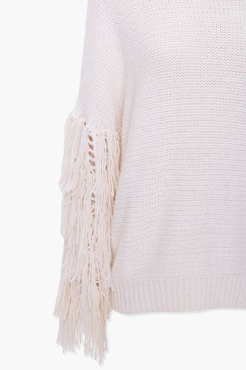 Fringe-Trim Knit Sweater, image 3