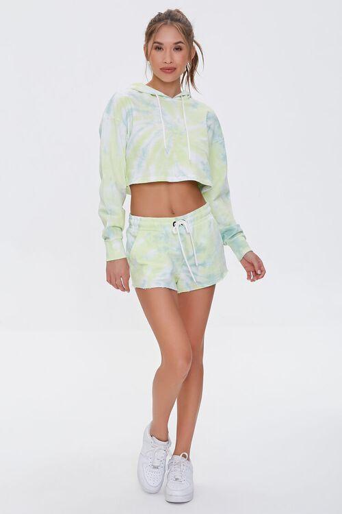 GREEN/WHITE Active Tie-Dye Hoodie, image 4
