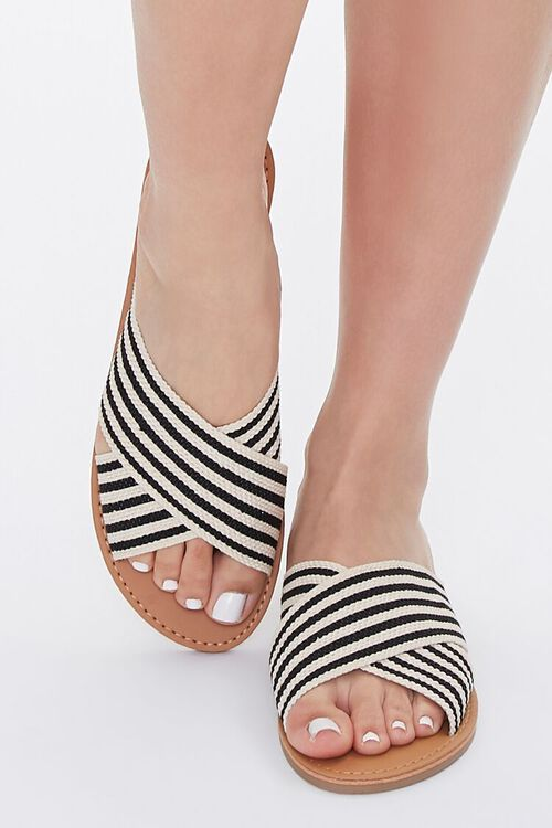 Striped Crisscross Vamp Sandals, image 4
