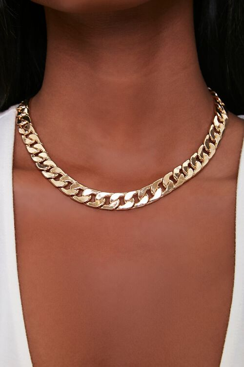 Chunky Curb Chain Necklace, image 1
