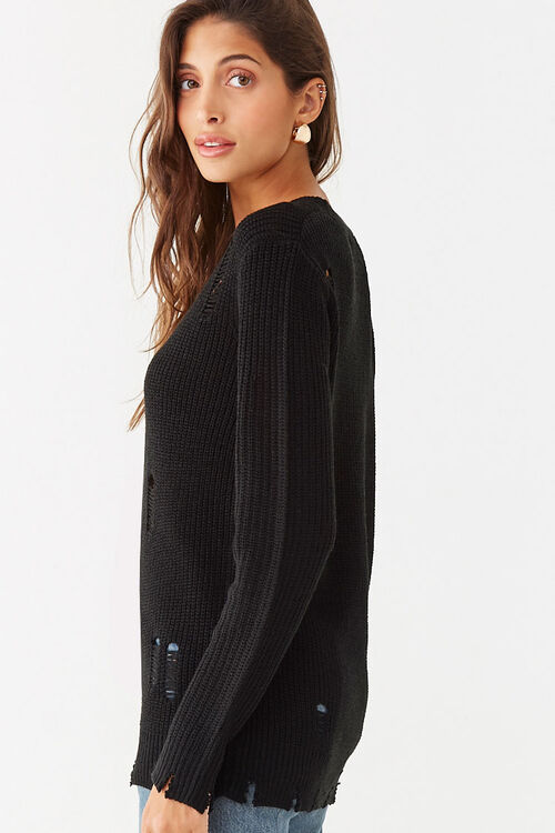 Distressed Ribbed Sweater, image 2