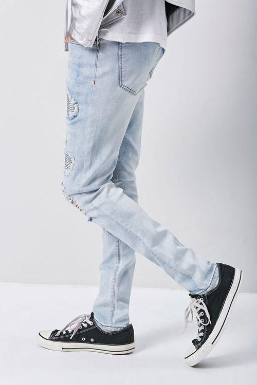 Rhinestone Distressed Skinny Jeans, image 2
