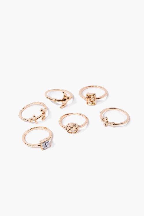 GOLD Bird Charm Ring Set, image 1