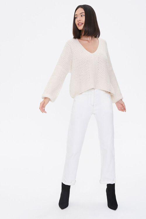 Open-Knit V-Neck Sweater, image 4