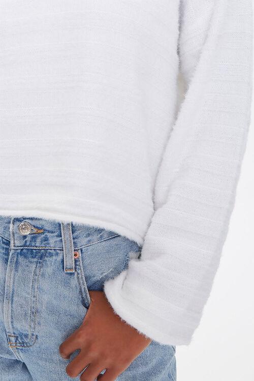 Fuzzy Knit Drop-Shoulder Sweater, image 5