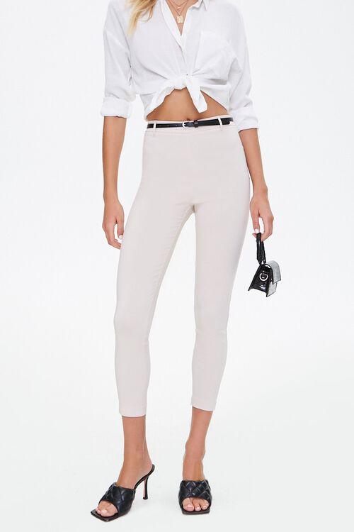 Skinny Belted Harper Pants, image 1
