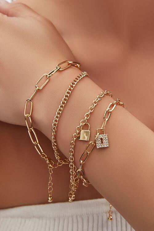 Lock Pendant Bracelet Set, image 1