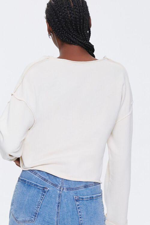 Floral Graphic Split-Neck Pullover, image 3