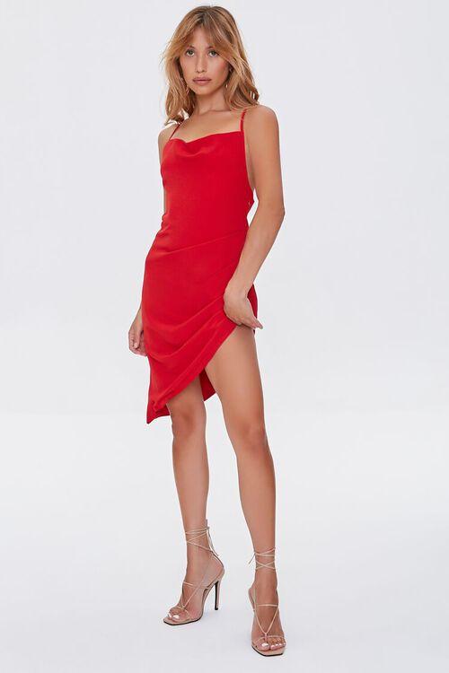 Lace-Back High-Low Dress, image 4