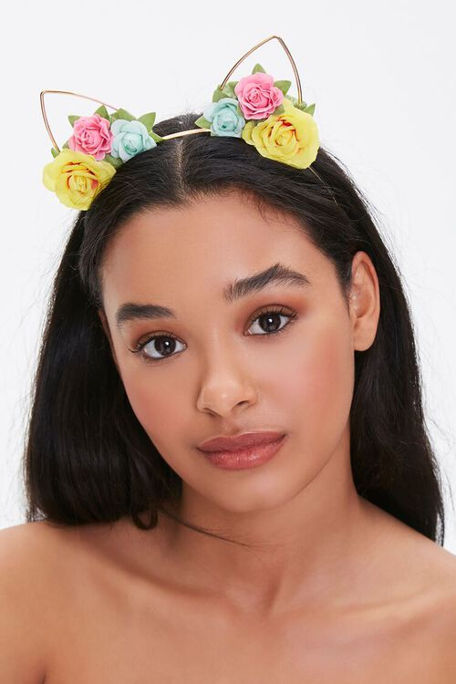 Floral Cat-Ear Headband, image 1