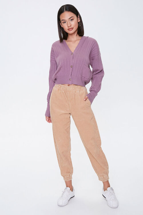 Ribbed Buttoned Cardigan, image 4