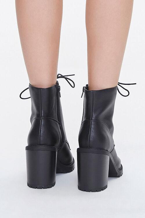 Lace-Up Block Heel Booties, image 3