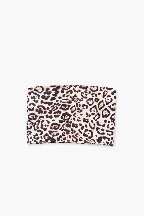 Leopard Print Bikini Top, image 4