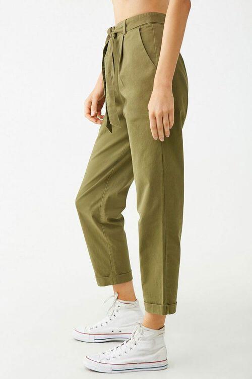 Belted Cuffed Hem Pants, image 2