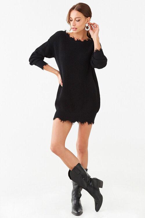 Distressed Mini Sweater Dress, image 4