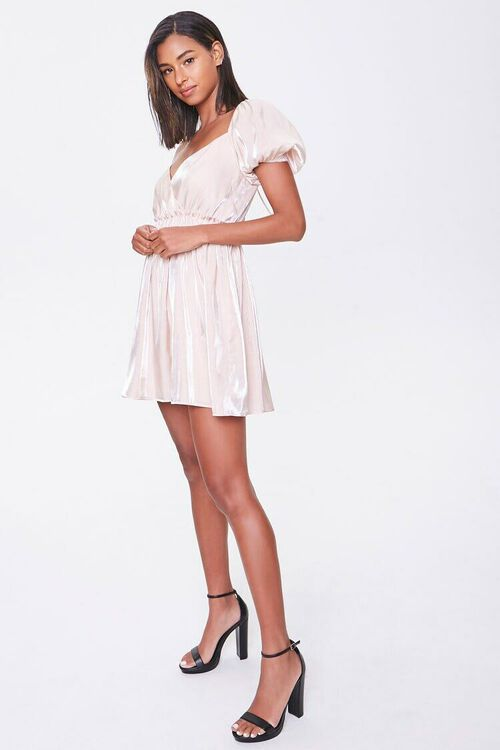 Puff-Sleeve Mini Dress, image 1