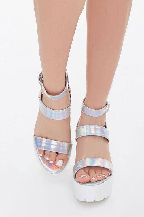Iridescent Platform Block Heels, image 3