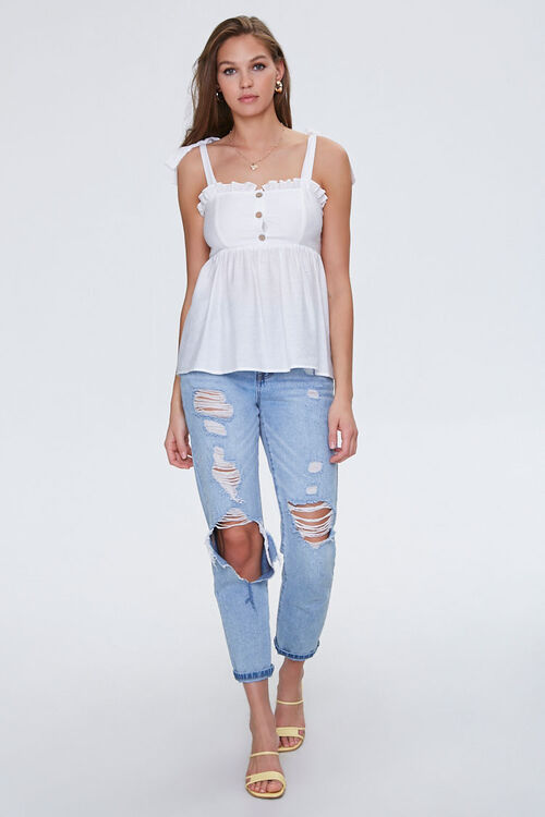 Ruffled Self-Tie Buttoned Top, image 4