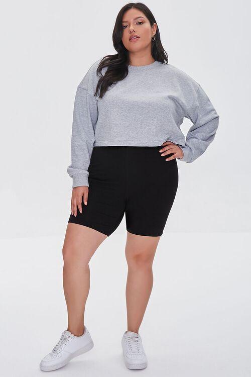 Plus Size Organically Grown Cotton Basic Biker Shorts, image 5