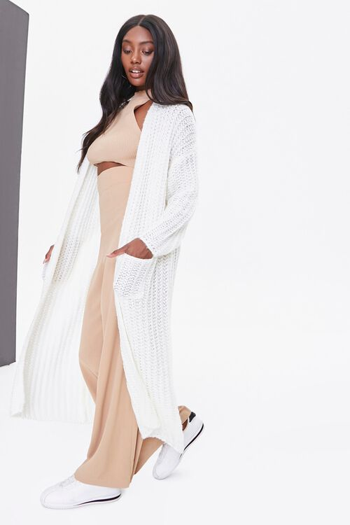 Longline Knit Cardigan, image 1