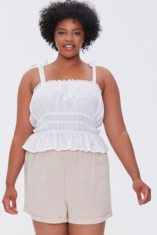 Plus Size Smocked Shorts, image 1