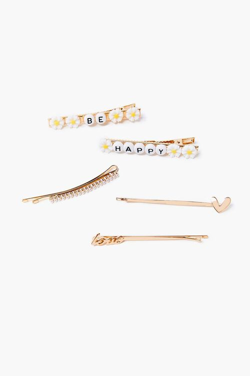 Be Happy Hair Clip Set, image 1