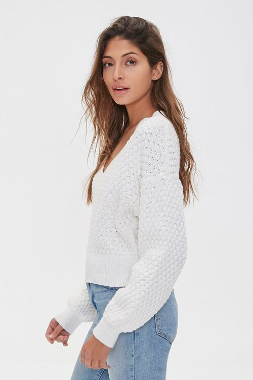 Textured V-Neck Sweater, image 2