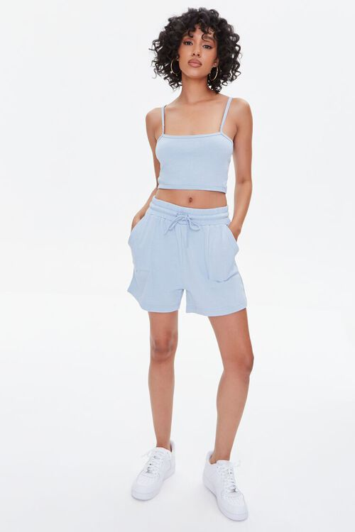 Cropped Cami & French Terry Shorts Set, image 4