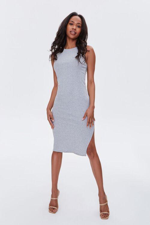 Heathered Sleeveless Bodycon Dress, image 4