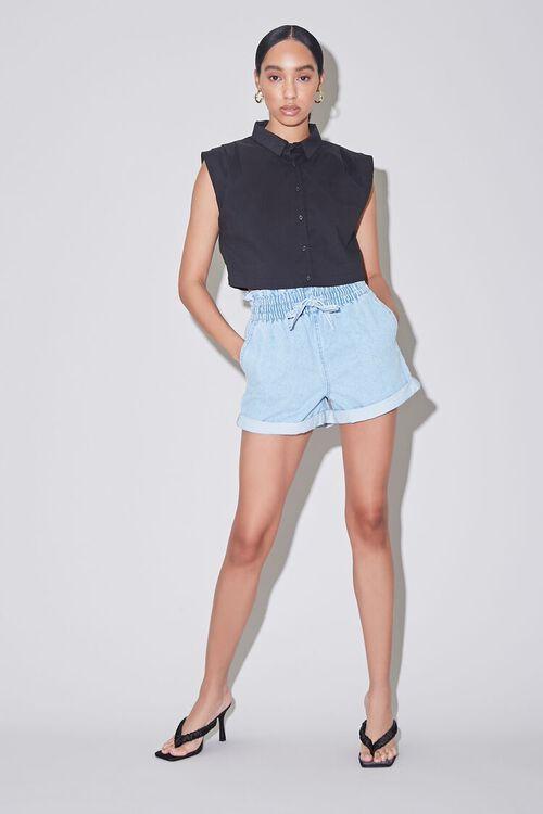 Paperbag Denim Shorts, image 5