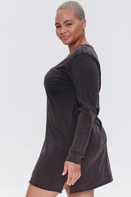 Plus Size Long-Sleeve T-Shirt Dress, image 2