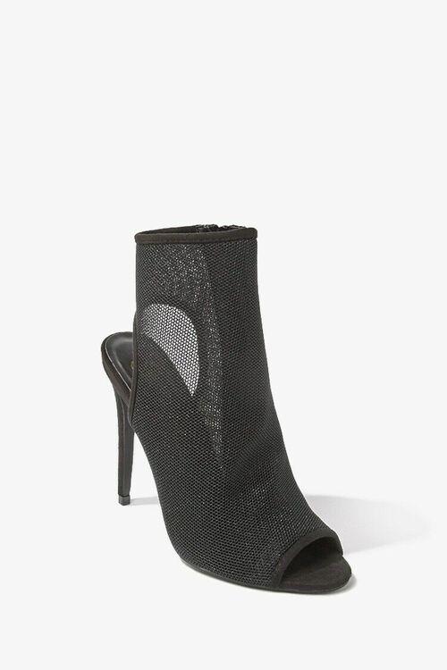 Sheer Mesh Peep-Toe Heels, image 1