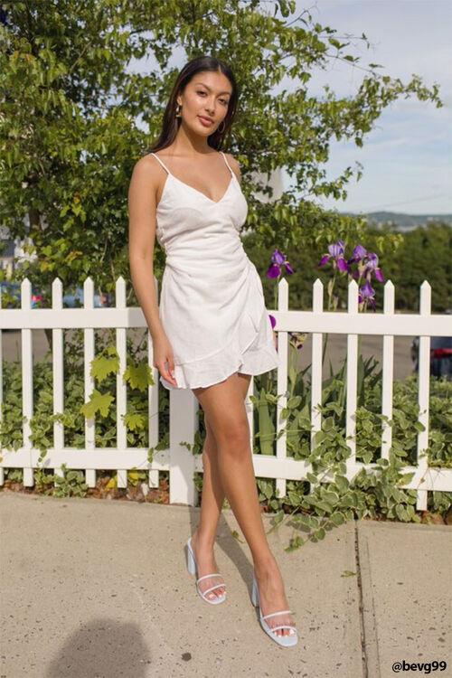 Mock Wrap Cami Dress, image 1