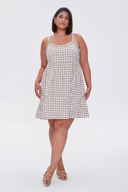 Plaid Tie-Back Dress, image 4