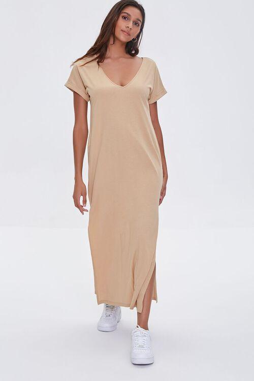 SAND Side-Slit Maxi Dress, image 4
