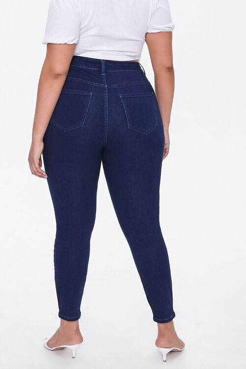 Plus Size Distressed Skinny Jeans, image 4