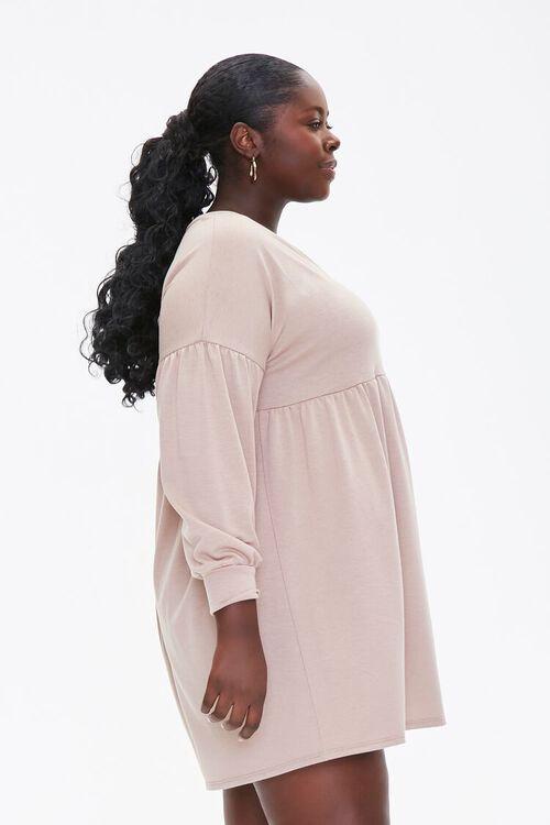 Plus Size Shirred Shift Mini Dress, image 2