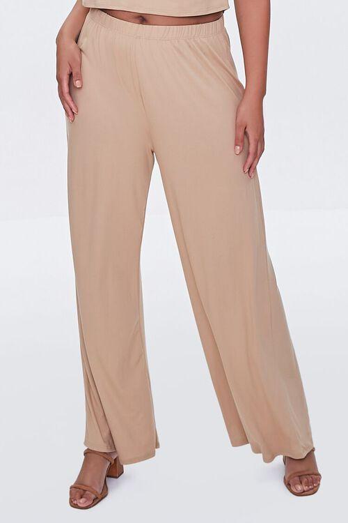 Plus Size Cropped Tee & Wide-Leg Pants Set, image 5