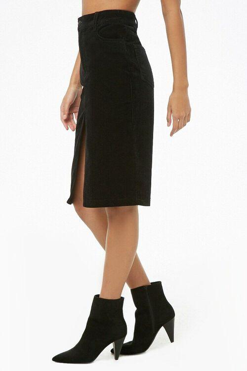Slit Corduroy Pencil Skirt, image 3