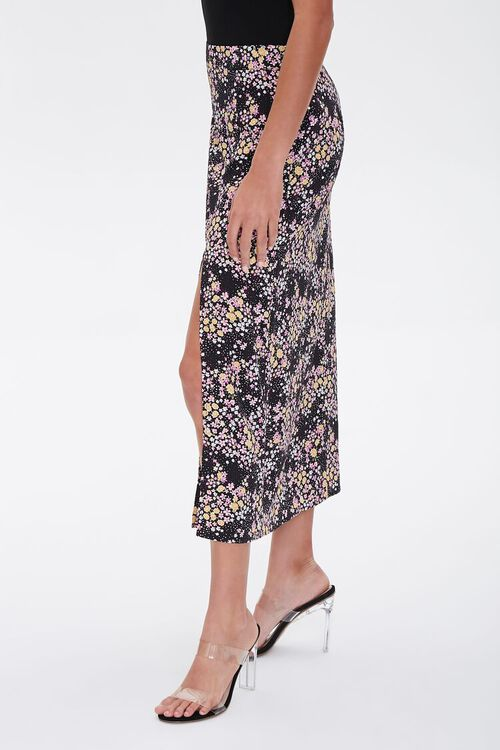 Floral Print Midi Skirt, image 3