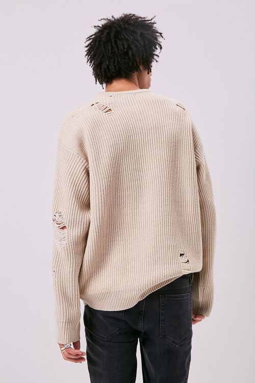 Distress Ribbed Knit Sweater, image 3