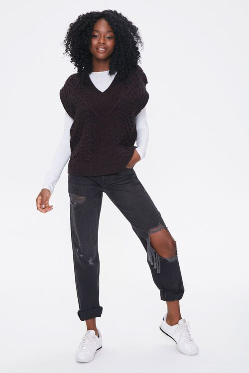 Relaxed-Fit Sweater-Knit Vest, image 4