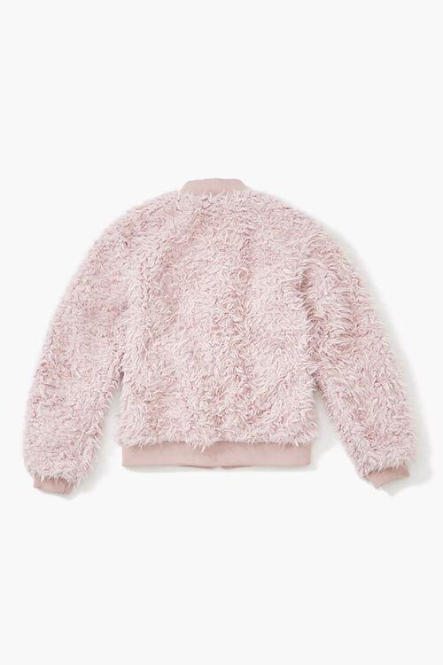 Girls Faux Fur Bomber Jacket (Kids), image 2
