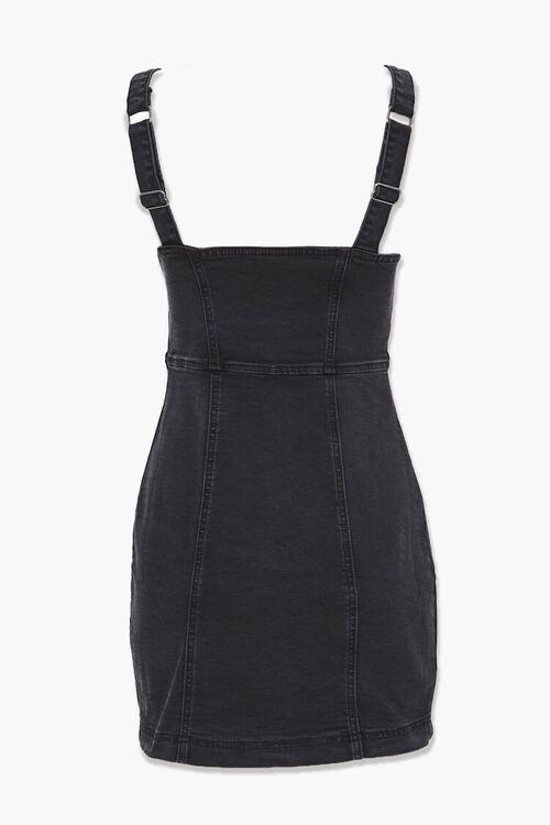 WASHED BLACK Denim Button-Down Dress, image 3