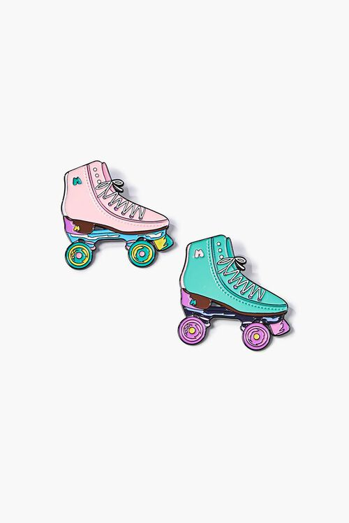 PINK/GREEN Moxi Skates Pin Set, image 1