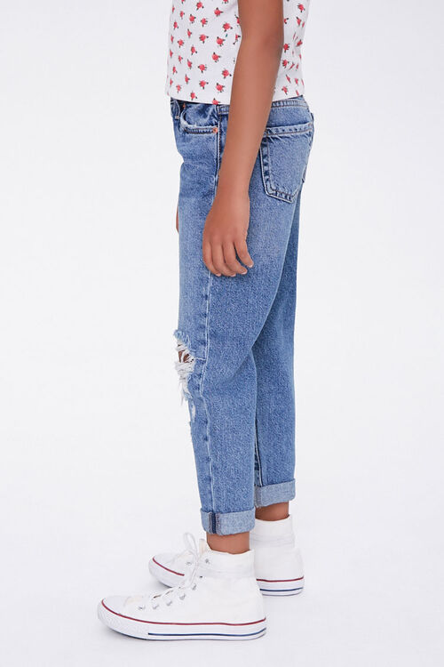 Girls Distressed Mom Jeans (Kids), image 2