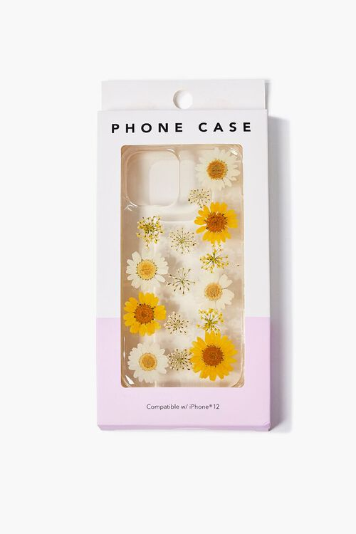 YELLOW/CLEAR Sunflower Case for iPhone 12, image 3